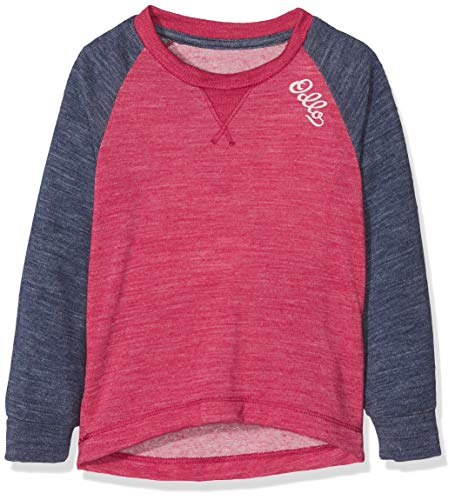 Odlo Shirt l/s Crew Neck Revolution TW Warm K sous-vêtements Enfant, Sangria-Navy New Melange, 80 cm