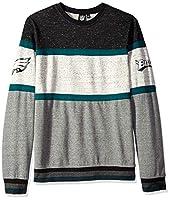 Ultra Game NFL Philadelphia Eagles Mens Fleece Sweatshirt Long Sleeve Shirt Block Stripe, Team Color, X-Large