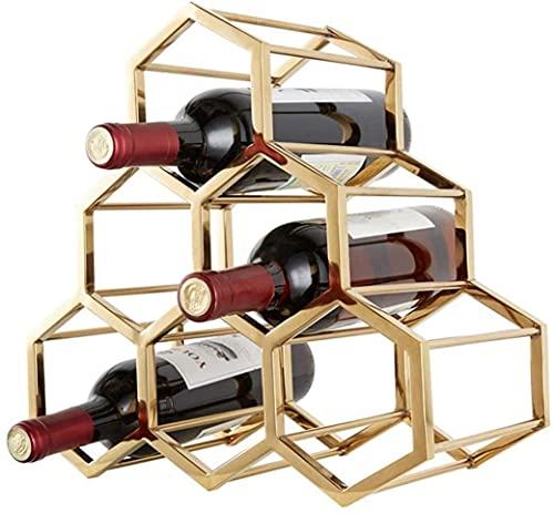 AERVEAL Titular de Vino Rack de Vino para 6 Botellas de Metal de Pie Libre - Portátil. Diseño Minimalista Moderno para Almacenamiento de Vinos.