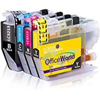 OfficeWorld LC 3213 Reemplazo para Brother LC3213XL Cartuchos de tinta Compatiable con Brother DCP-J772DW J774DW MFC-J890DW J895DW Impresora (1 Negro 1 Cyan 1 Magenta 1 Amarillo)
