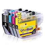 OfficeWorld LC 3213 Reemplazo para Brother LC3213XL Cartuchos de tinta Compatiable con Brother DCP-J772DW J774DW MFC-J890DW J895DW Impresora (1 Negro 1 Cyan 1 Magenta 1 Amarillo)