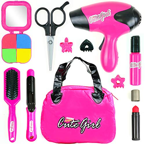 Big Mo's Toys Kids Beauty Salon Set, Stylish Girls Beauty Fashion Pretend Play Toy with Cosmetic Bag - http://coolthings.us