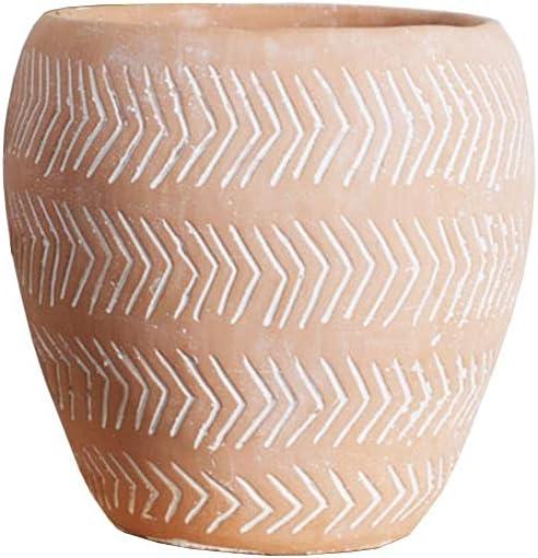 Max 61% OFF Flower Plant Pots Orange Retro Cement Pot Restaura Family Overseas parallel import regular item