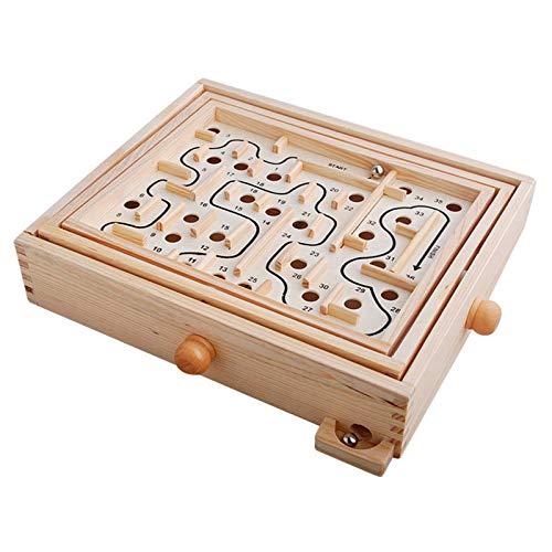 Leisure Children's Educatief speelgoed, 36-Level Houten Desktop Maze Game Kindergarten ouder-kind puzzelspel speelgoed voor kinderen tieners en volwassenen