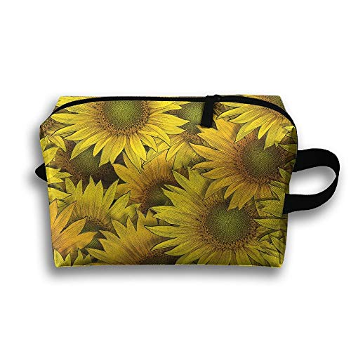 Sunflower Cosmetic Bags Makeup Organizer Bag Pouch Purse Handbag Clutch Bag
