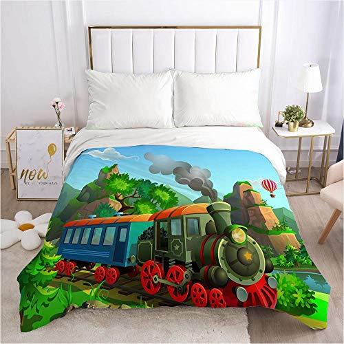 lhmlyl Matratze Einzigartige Musterdruckfabrik Bettbezug Cartoon Tierparadies-Cartoon 037-Weiß-Q1_210 * 245 cm