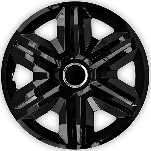 NRM Fast 4X Tapacubos Universales para Coche, Tapacubos para Automóviles 4 Piezas 16' Negro