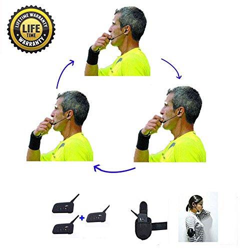 Schiedsrichter-Headset 3 Schiedsrichter sprechen gleichzeitig Fußball-Funk-Headsets Funk-Fußball-Headsets Headset Fußball-Schiedsrichter-Kommunikation