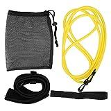 VGEBY 4 unids/Set Cuerda de Asistencia para Tirar de la Cuerda, Cuerdas de Entrenamiento de natación mejoradas Cuerda de Resistencia para el Entrenador de natación(Amarillo)