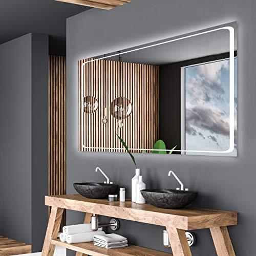 Alasta Espejo de Baño con Iluminación LED - Modello Barcelona - LUZ LED Blanco FRÍO A++