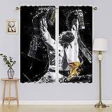 Sports Pop Art Conor McGregor Cortinas opacas y cortinas, cortinas oscurecedoras para sala de estar, cortinas de ahorro energético para cortinas de ventana de guardería de 163 x 1177 cm