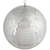 BalsaCircle 24-Inch Large Silver Glass Hanging Party Disco Mirror Ball Wedding Birthday Home Decorations Christmas Ornaments