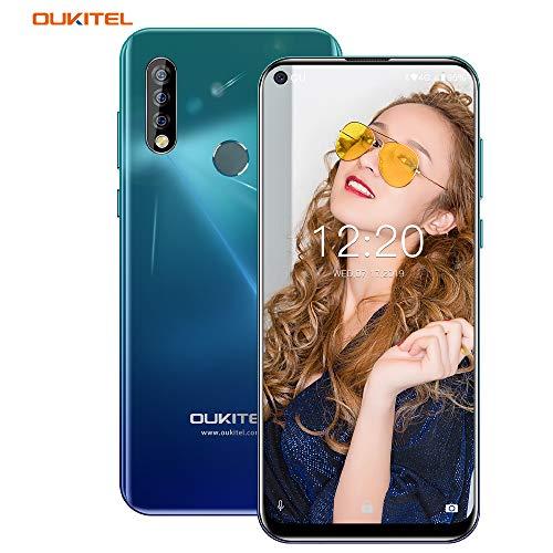 OUKITEL C17 Pro SIMスマートフォン Android 9.0 4G携帯電話 SIMフリー スマホ 本体 6.35インチHD + フルスクリーンは表示します, MT6763クワッドコア スマホ, 4GB RAM +64 GB ROM, Sony 13MP+5MP+2MP リアカメラ/5MPフロントカメラ 顔認証 指紋認識 3900mAh大容量 バッテリー スマホ 技適認証済み (サポート2.4G/5G WIFI)【一年保証】 (スカイミラー)