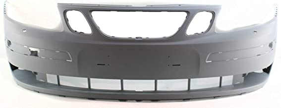 Front Bumper Cover for SAAB 9-3 2004-2007 Primed with Headlight Washer Holes