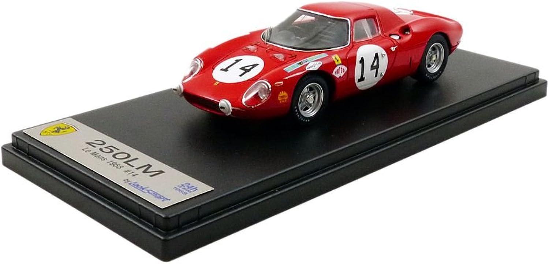 LOOK&SMART Looksmart–lslm041–Fahrzeug Miniatur–Ferrari 250LM–Le Mans 1968–Mastab 1 43, rot