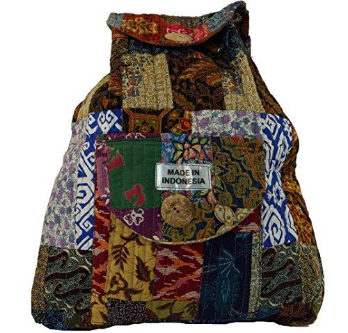 Guru-Shop Rucksack Patchwork, Herren/Damen, Mehrfarbig, Baumwolle, Size:One Size, 40x35x13 cm, Ausgefallene Stofftasche