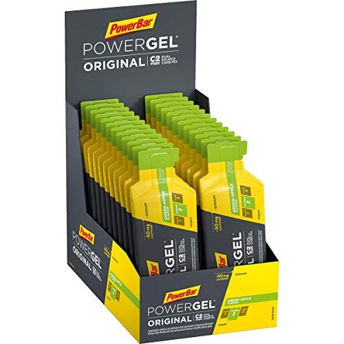 PowerBar PowerGel Original Green Apple 24x41g - High Carb Energy Gel + C2MAX Magnesio e Sodio