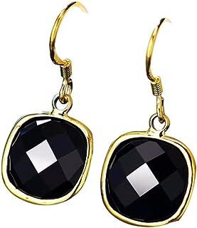GUAngqi Water Drop Earrings Female Long Asymmetrical Zircon Gold Silver Earrings,Golden