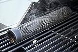 PLAI Tubo de ahumado, 30 cm, de acero inoxidable, ahumado en la parrilla, ahumado intensivo, caja de ahumado, tubo de pellets