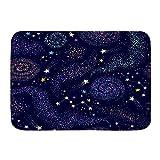 GugeABC lfombra de baño,Meteorito Cielo Azul Estrella Galaxia lechosa Carta Planetario cósmico Nebul...
