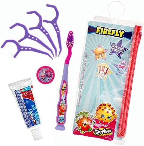 Firefly Dental Travel Kit for Kids 1 Firefly Toothbrush 1 Toothpaste 1 Toothbrush Cap 4 Flossers product image