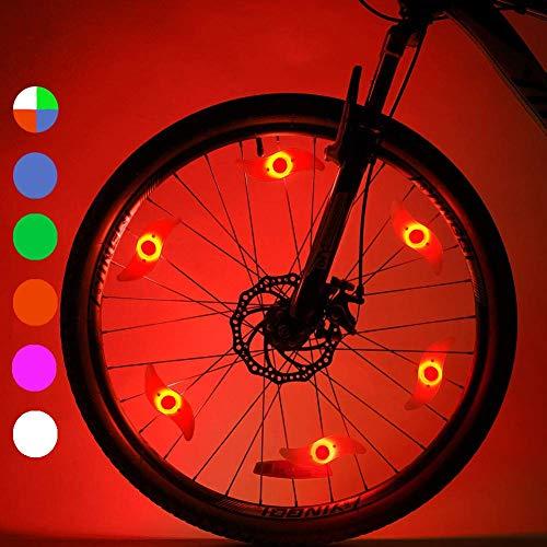LeBoLike Bike Spoke Lights Cycling Bike Wheel Lights for Bicycle Decoration 6 Pack Batteries Included