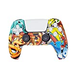 Spray Painting Art- PS5 DualSense Silicone Slip On Controller Unique Pattern Theme Protection Case Cover - ABXY Tech
