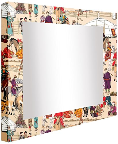 ccretroiluminados Chinese figuren spiegel hal verlicht, acryl, meerkleurig, 60 x 5.3 x 80 cm