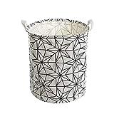 De algodón resistente al agua nórdica japonesa baño minimalista de lavandería cesta de almacenamiento de cestas de almacenamiento cesta de ropa de tela residuos ( Color : Pentagram , Size : 40*50CM )