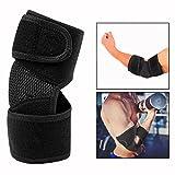 Cisixin Coudières Sportive, Coudière de Maintien et Coudière Réglable, Protection de Coude Bras Elastique Antichoc Bandage pour Sport