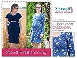 Zierstoff einfach nähen Schnittmuster, Schwangerschaftskleid, Stillkleid Cassandra, Gr. 158 bis Damengr. 46 - digital