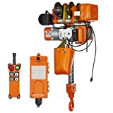 Prowinch 1 Ton Electric Chain Hoist Power Trolley 20 ft. G80 Chain M3/H2 110/120V Wireles