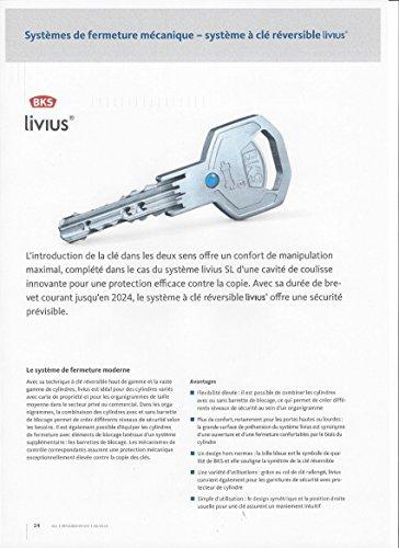 Schließzylinder BKS Serie 50 livius, Länge: 35/35mm GF mit 3 Schlüssel