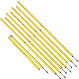 Trademark Innovations Soccer Football Training Equipment Agility Slalom Poles (Yellow, Set of 8)