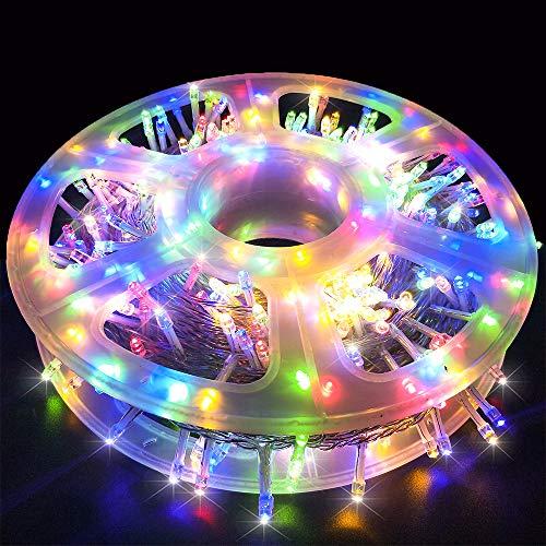 MYGOTO Xmas Lights String Lights 500 LED 165feet 8 Modes Plug in String Lights 30V Fairy Lights Home Garden Party Wedding Xmas Tree Bedroom Window Curtain Decoration(Multicolor)