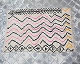 SoloBonito 0068 Azilal Tapis tissé à la main en laine vierge de qualité supérieure 123 x 143 cm