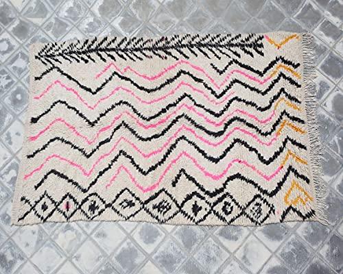 SoloBonito Azilal Berberteppich 123 x 143 cm handgewebt Teppich aus hochwertiger Schurwolle (0068)