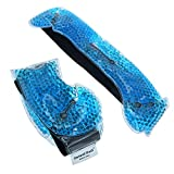 Gel Beads Hot & Cold Pack – Innovative Reusable Gel Bead Technology Provides Instant Heat or ice Pain Relief, Rehabilitation and Therapy(2-Pack)
