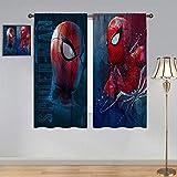 ARYAGO Rideau de fenêtre isolant thermique imprimé The Amazing Spider Man Rideaux d'anime Superhéros Spiderman The Avengers imperméable pour chambre d'enfant 52 x 63 cm