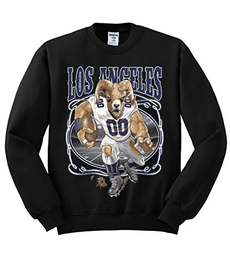 Wild Bobby Los Angeles Fans | LAR Fantasy Football | Mens Sports Crewneck Graphic Sweatshirt, Black, X-Large