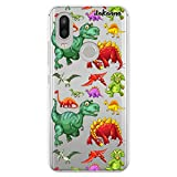dakanna Funda Compatible con [ Bq Aquaris X2 - X2 Pro ] de Silicona Flexible, Dibujo Diseño [ Patrón de Dinosaurio ], Color [Fondo Transparente] Carcasa Case Cover de Gel TPU para Smartphone