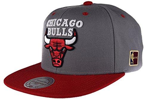 Mitchell & Ness Bulls Special Snapback NBA HWC Chicago Bulls Logo, grau/rot