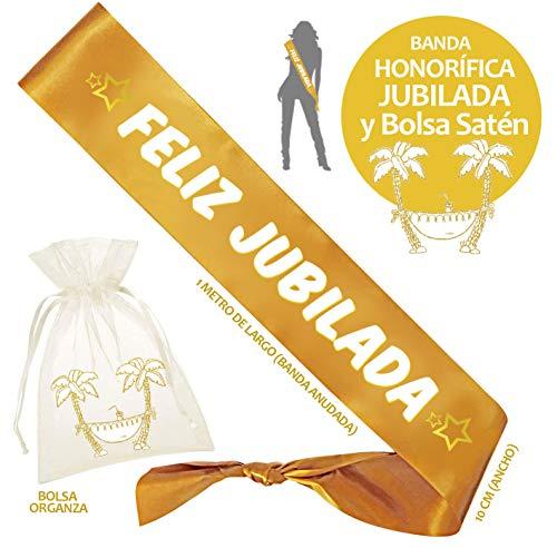 Inedit Festa JUBILADA Banda Honorífica Feliz Jubilada Fiesta Jubilación Estrellas Jubilada Feliz