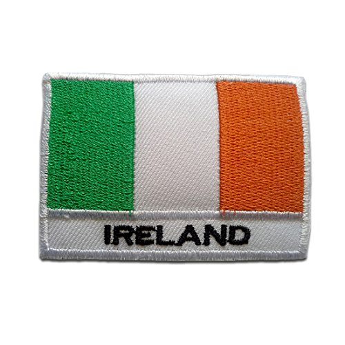Irland Flagge Fahne - Aufnäher, Bügelbild, Aufbügler, Applikationen, Patches, Flicken, zum aufbügeln, Größe: 5,3 x 7,6 cm