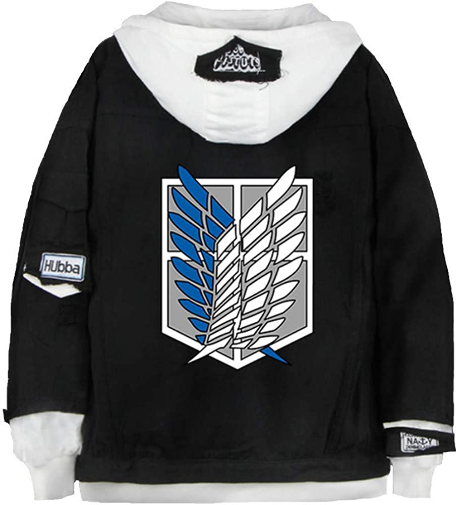 Outstanding Anime Attack on Titan Jeans Eren Spring new work one after another Jacket Jaeger Hooded Sweatshirt