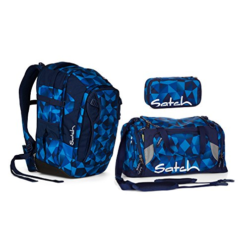 Satch Match Blue Crush Schulrucksack Set 3tlg.