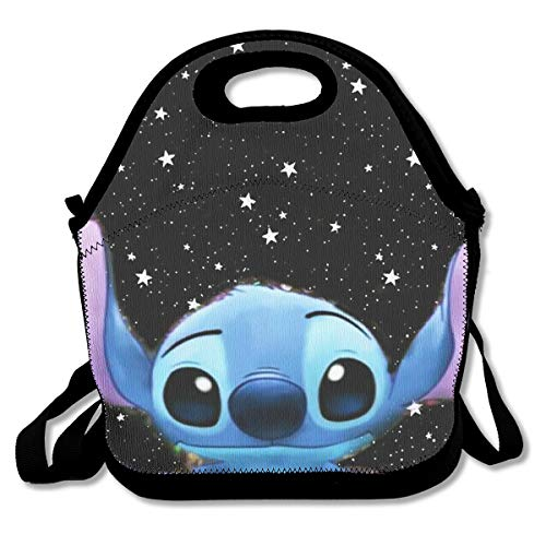 LIUYAN Personalized Lunch Tote Bag Space Stitch Travel Picnic Food Lunch Box for School Cooler Picnic