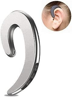 Ear-Hook Wireless Headphones Volwco Non Ear Plug Bluetooth Headset,Bone Conduction Headphone for Cell Phone Talk (Single Ear)