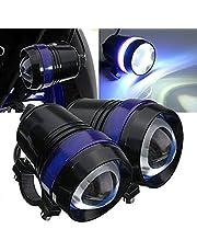 TUINCYN U3 Motor de Moto LED lámpara bombilla faro luces resistente al agua 6000K luz blanca Universal Moto bombilla LED proyector de luz de día (Pack de 2)