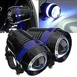 TUINCYN U3オートバイLEDランプモーターヘッドライトスポットライトバルブ防水6000Kホワイトライトユニバーサルオートバイランニング作業ビームライトプロジェクターDaymarker LED電球(パック2)